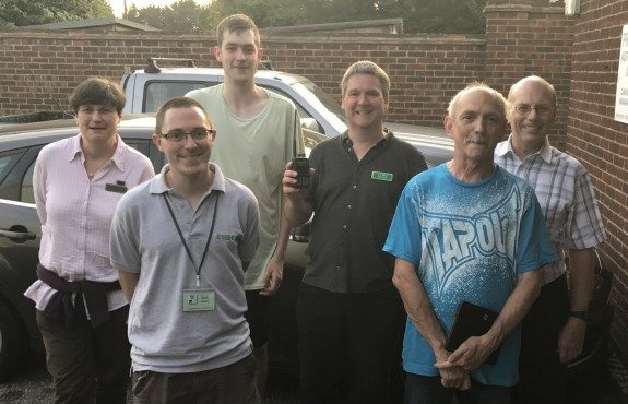"Some of those who shouted ""hi"" from Danbury Village Hall on the Monday Night Net 19 June 2017"