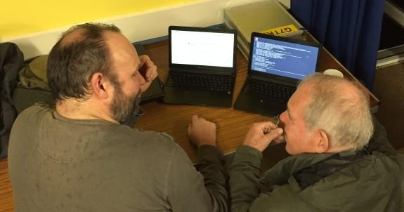 Andy G7TKK and his Raspberry Pi laptop