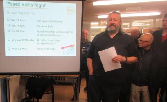 Chris G0IPU, running the fiendish Skills Night Quiz