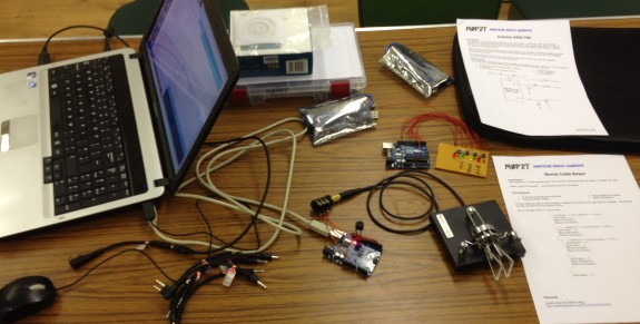 Arduinos and Programming by Charlie M0PZT (Pic: Trevor M5AKA)