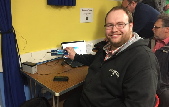 George M1GEO with is new QRP SDR transceiver