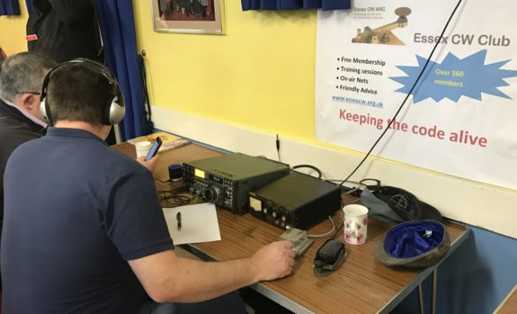 Dean fro the Essex CW Club, live on HF at Skills Night