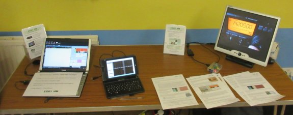 Data, tablet, video and leaflets on the Essex Ham stand