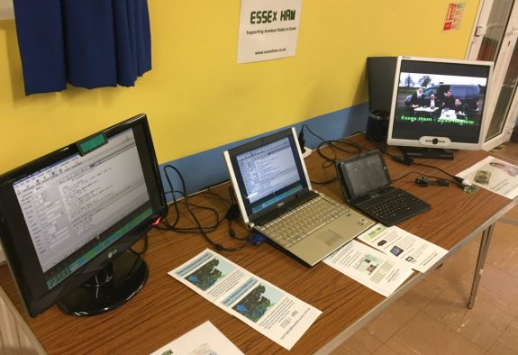 Essex Ham's demo table at the May 2016 Skills Night