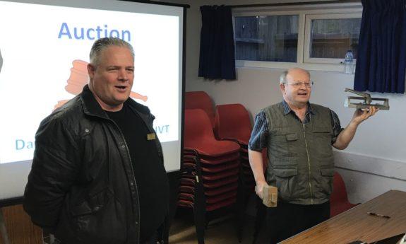 David M1ECC and Mike G4NVT running the auction at the May 2017 Skills Night