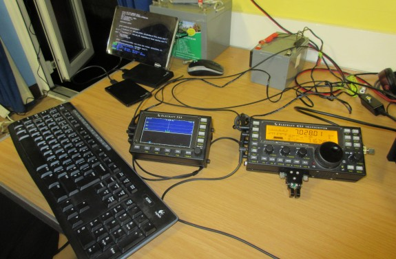 Peter G0DZB's Elecraft and Raspberry Pi demo