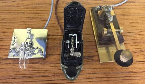Morse Keys on display at the Essex Skills Night