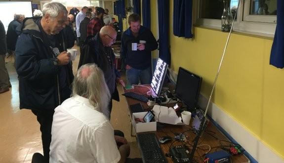 Peter G0DZB's bust Raspberry Pi demo corner
