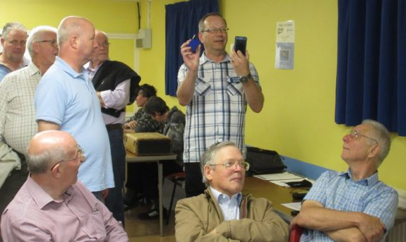 Steve M0SHQ, with the BlueDV portable DV hotspot
