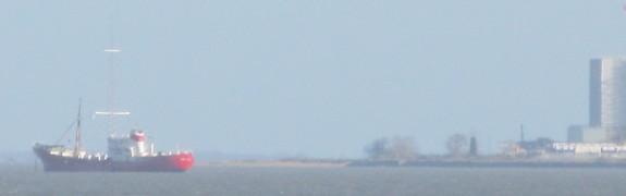 Radio Caroline, moored in the River Blackwater