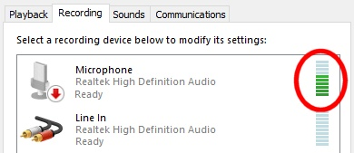 Check that audio is reaching your soundcard from your radio