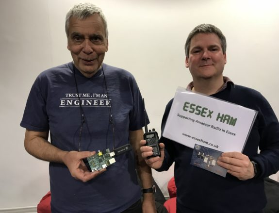 Ed G8FAX and Pete M0PSX, after their 5 minute talks