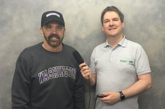 SteppIR founder Mike K7IR, with Pete M0PSX
