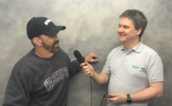 SteppIR founder Mike K7IR, talking to Essex Ham
