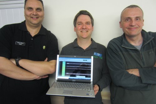 Ricky M6DII, Pete M0PSX and Neil G0RNU, talking data