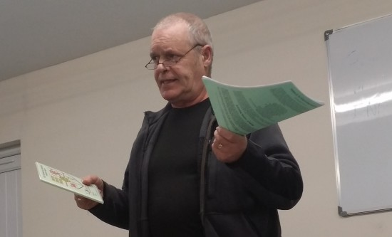 John Allen G4LTH talking at TAARC - Feb 2015