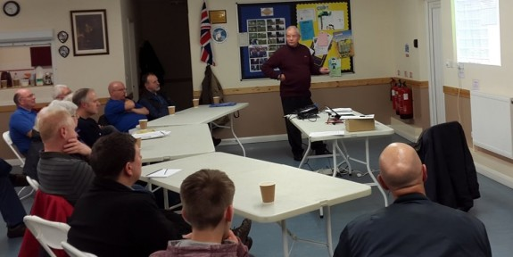 Steve G4HXY talking about fuses with the Thurrock Acorns