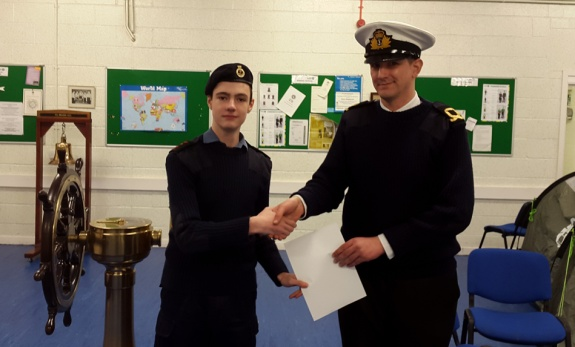 Essex Sea Cadet gets Intermediate Licence