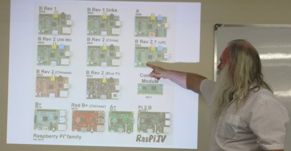Showing the various models of the Pi since launch