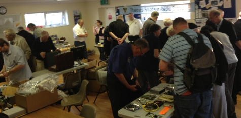 Browsing at the Tabletop sale on Canvey Island