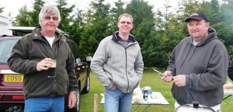 Event organiser Norman M0FZW with Dean M6BYF and Mike M0MMB