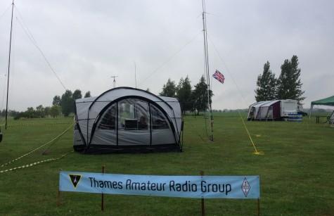 Thames ARG shack and antenna farm