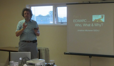 Jonathan G0DVJ from Essex CW Group at Thames ARG