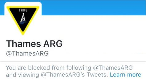 Twitter message - Access to Thames ARG denied March 2016
