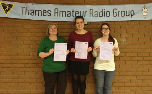 Belinda, Kelly and Lucy, with their RCF Pass Certificates