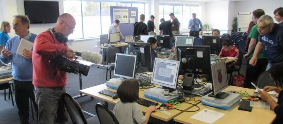 TX Factor recording youngsters at Southend Raspberry Jam