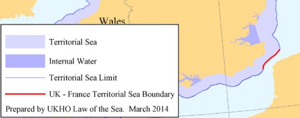 Extract of UK Territorial Sea Limits (For illustrative purposes only)