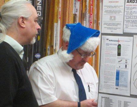 Seasonal Steve, with this year's ho ho hat