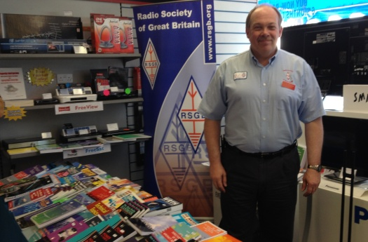 RSGB Regional Manager Steve M1ACB manning the bookstall