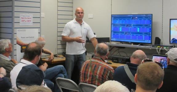 Justin G0KSC talking SDRs at Waters & Stanton