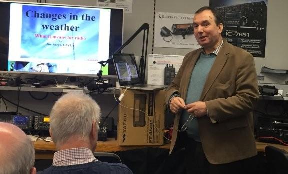 Jim Bacon G3YLA, talking at Waters & Stanton December 2015