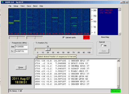 WSPR Interface