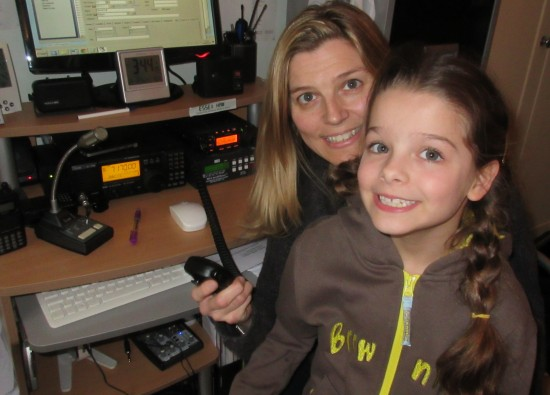 Sarah M6PSK and Kathryn (aged 7) supporting TDOTA with the Thurrock Acorns