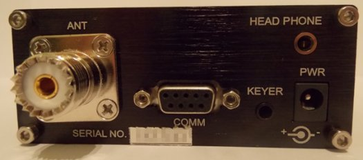 X1M Compact 5-Band HF QRP Rog - Rear View