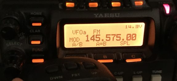 Testing the modulation on a Yaesu FT-857