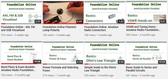 Foundation Online Support Videos