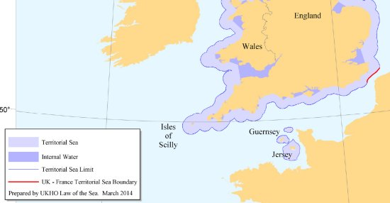 UK Territorial Seas - Source: UK Hydrographic Office (UKHO)