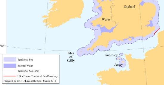 UK Territorial Seas - Source: UK Hydrographic Office (UKHO)